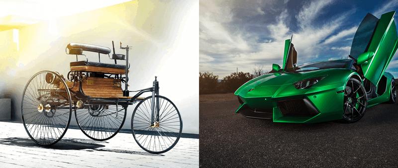 Benz Patent-Motorwagen vs. Lamborgini