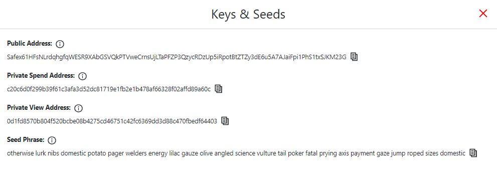 Safex Keys