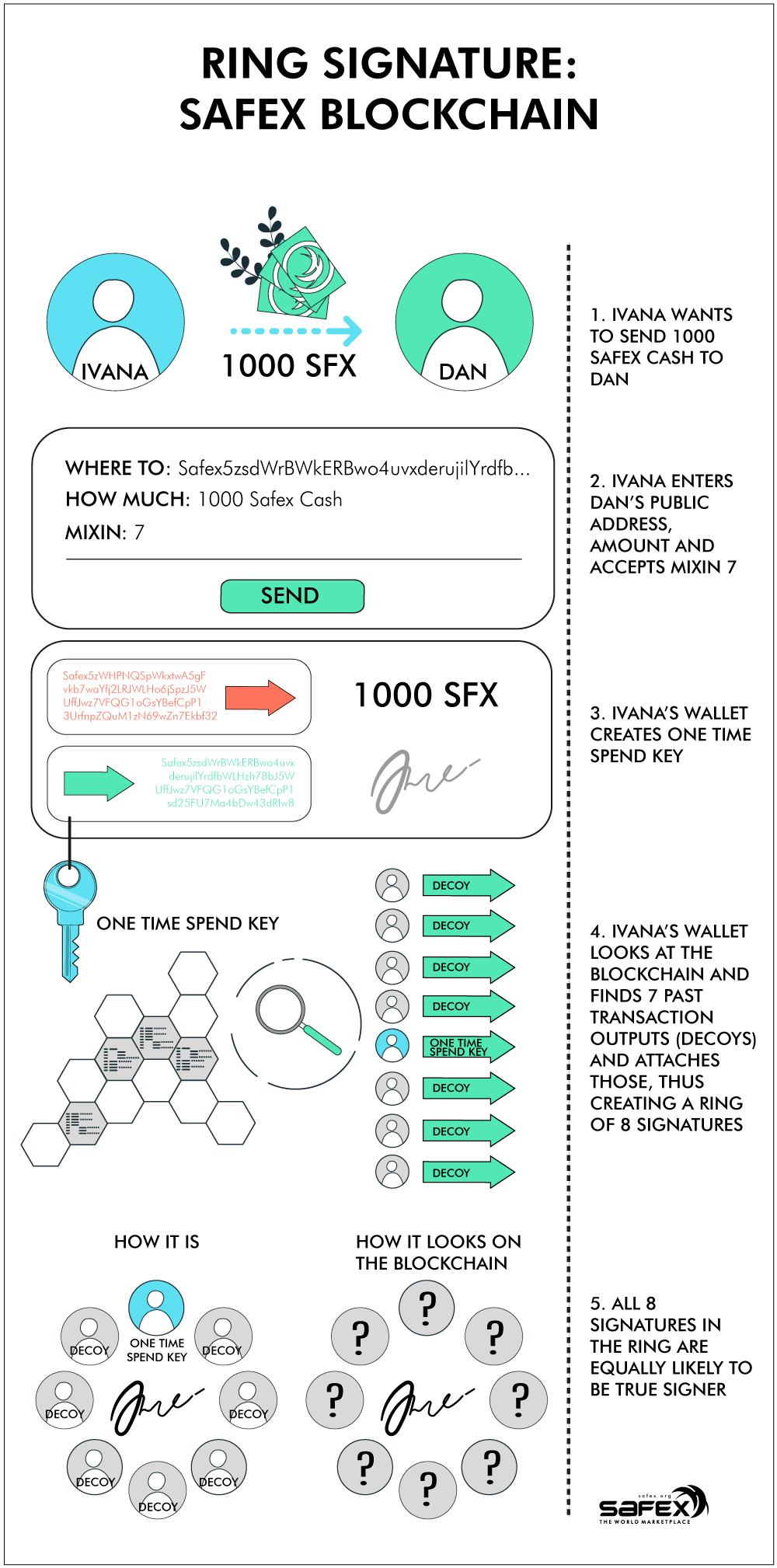 Ring Signature: Safex Blockchain