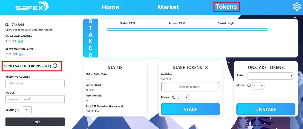 Safex Wallet Send Safex Token