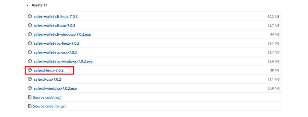 Safexd-Linux-GitHub