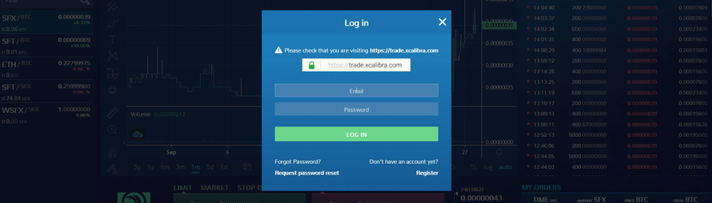 How to send Safex Coins to the Exchange Log in to the Exchange