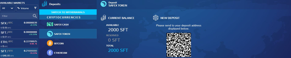 How to send Safex Tokens to the Xcalibra Exchange