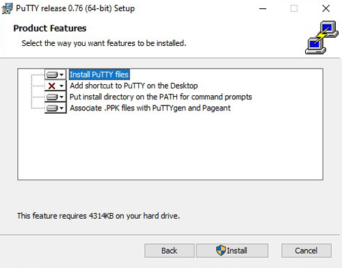 Install Putty Software