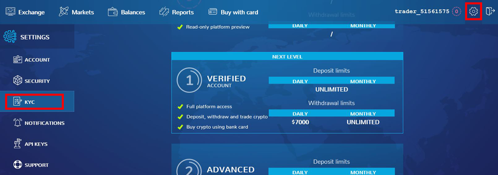 KYC Verification Xcalibra Exchange