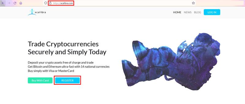Make an Account on a Crypto Exchange Xcalibra