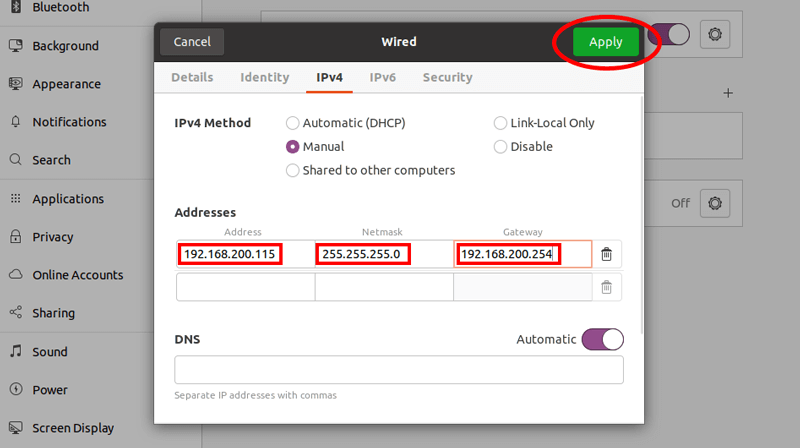 Network Settings Safex Xmrig Custom Build