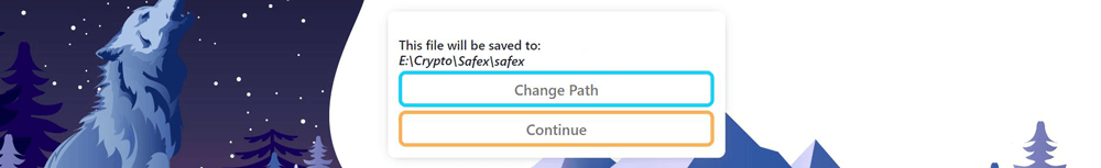 Recover Safex Key Continue