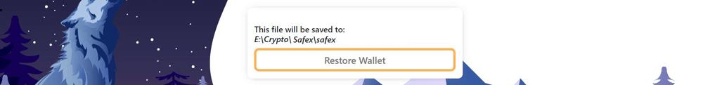 Restore Safex Wallet