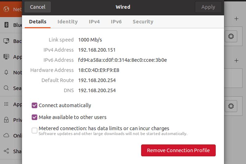 Router Configured Linux