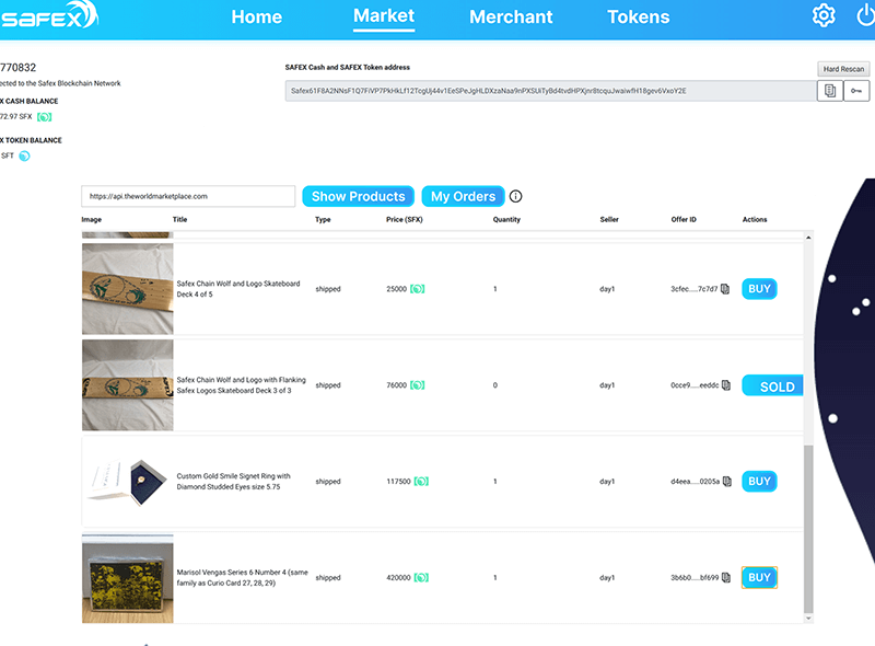 Buy NFT on Safex Marketplace
