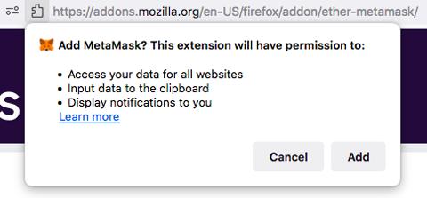 Install MetaMask Wallet Add MetaMask Extension
