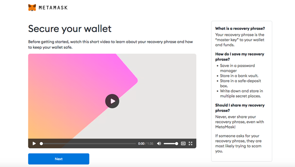 Install MetaMask Wallet Secure Your Wallet