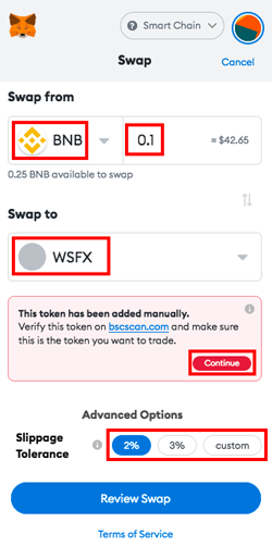 PancakeSwap Get Wrapped Safex Cash WSFX Swapping WSFX on PancakeSwap