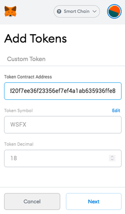 PancakeSwap Get Wrapped Safex Cash add WSFX