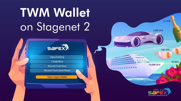 TWM Wallet on Stagenet 2